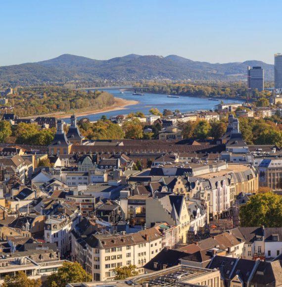 Blick auf Bonn, Deutschland